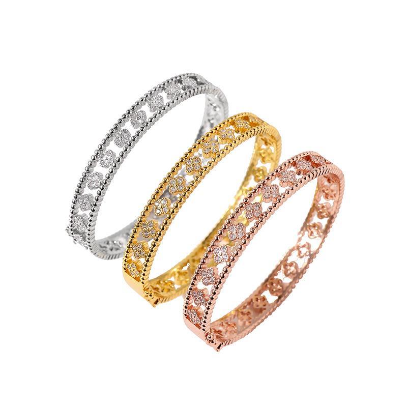 Fashion Hollow Out Diamond Trever Pulseira Adequado para Jóias de Pulseira das Mulheres
