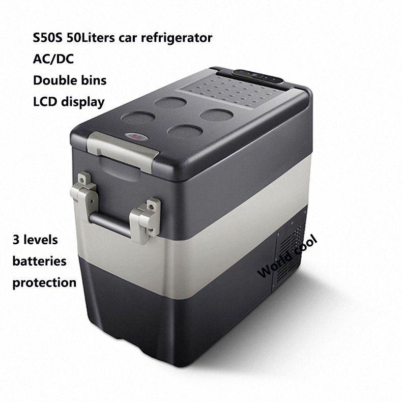 50L AC / Car DC12V24V Frigorifero auto Freezer più fresco di campeggio portatile Mini Frigo compressore Frigorifero Fridge d2q9 #