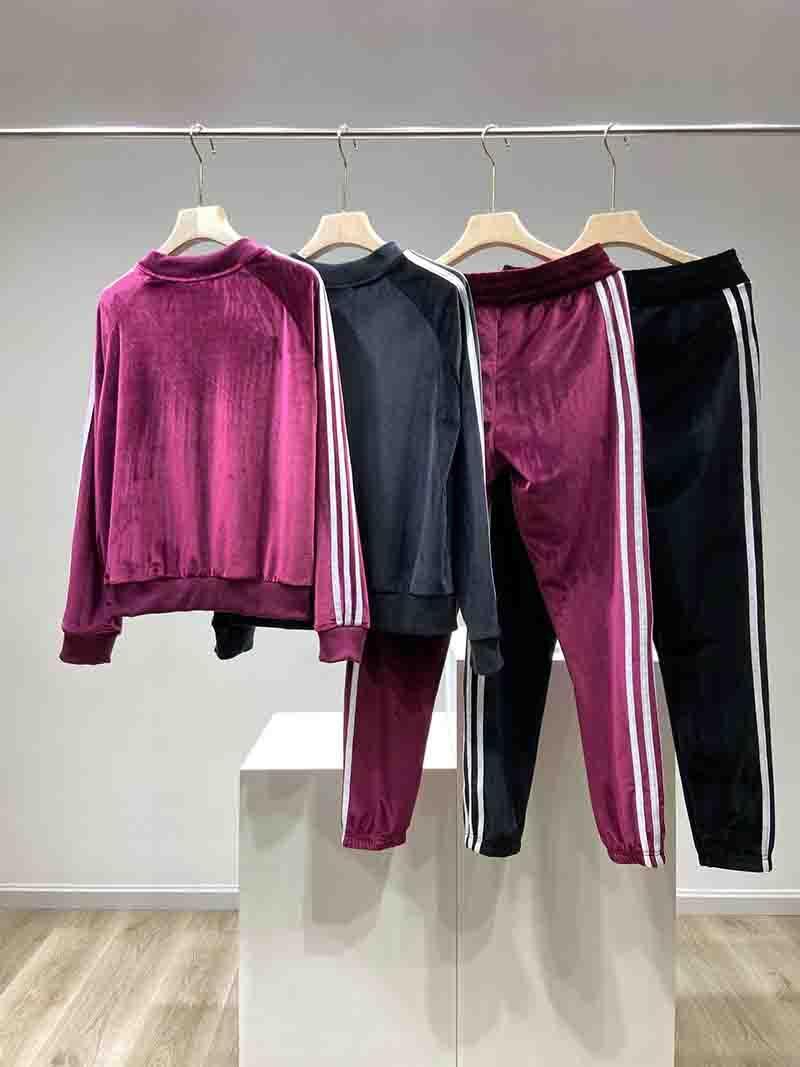 Kadın Eşofman Sonbahar Kış Moda Yeni Bayan İki Adet Set Casual Kadınlar Spor Sıcak Suit Tasarımcı eşofman Womens 2 Renkler Boyut M-XL