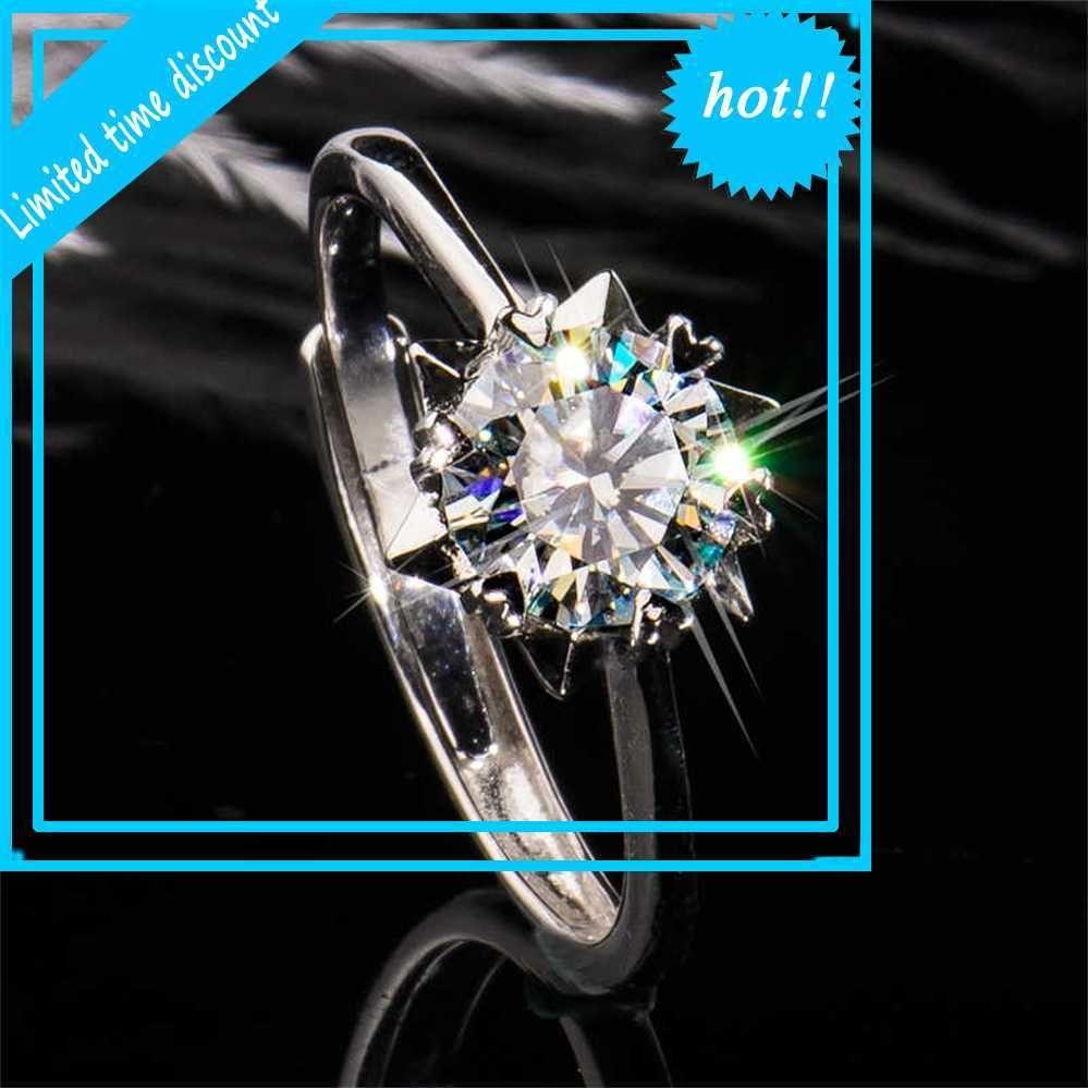 Preciosa Piedra Acesorios Feminino Bandas de boda para mujeres Joyería 925 Real Sterling Silver Anillo