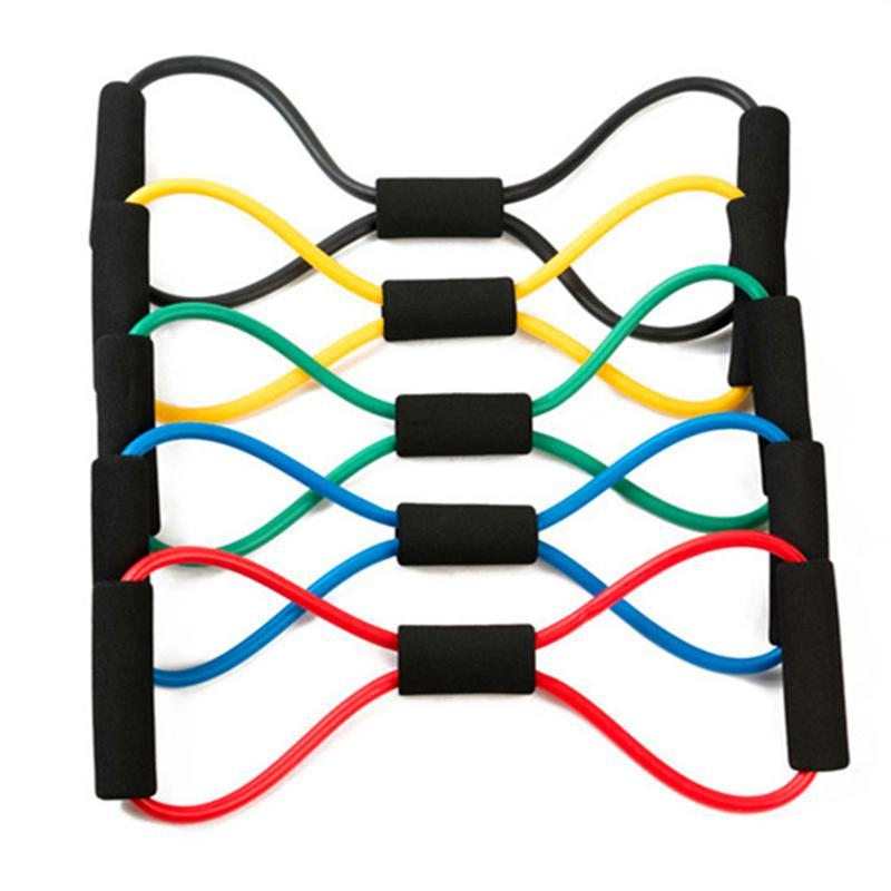 Yoga 8 forma pull corda yoga goma fitness resistência treino muscle fitness borracha elástica faixas para exercício esportivo Easter10y