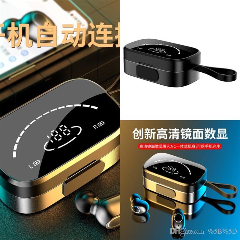 CFD Sport Casque Bluetooth Designer Stéréo Headphones sans fil Mini tactile Écouteur Bluetooth -Tws ah LED