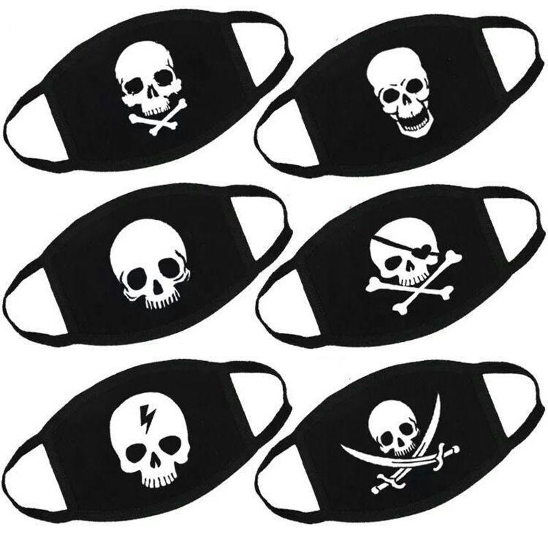Yeni Tasarımcı Moda Maskeleri Özelleştirilmiş Yetişkin Karikatür Kafatası Amerikan Bayrağı Yüz Komik İfade Baskı Cadılar Bayramı Maskesi