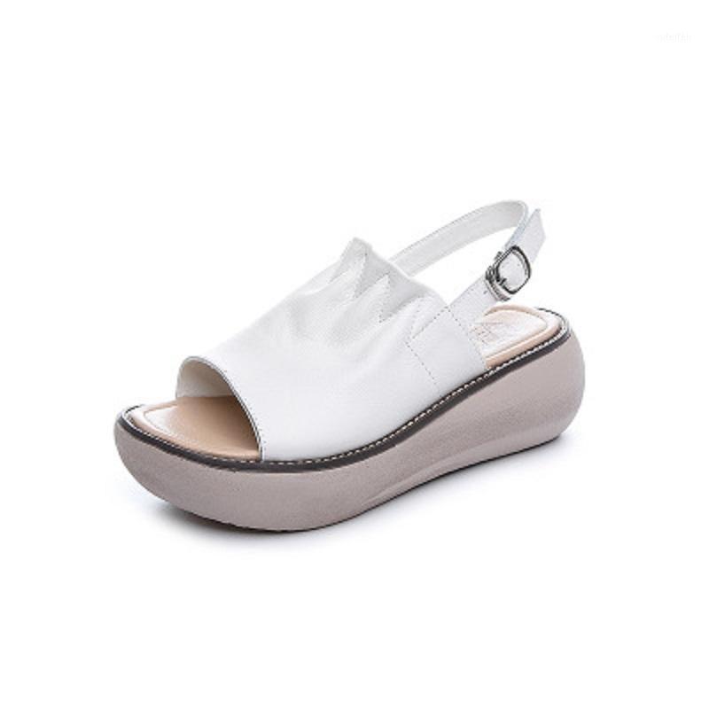 My-Love 2020 New Ladies Retro Toes Open Toes Genuine Pelle Piattaforma Ritanti Stivali Sandali Comfort Fashion Handmade Donne Sandals1