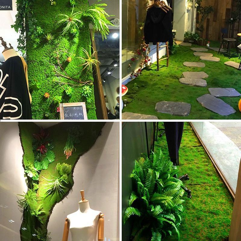 مصنع محاكاة الجدار الطحلب الأخضر وهمية moss الصغير المشهد بونساي المناظر الطبيعية الديكور المواد الحديقة