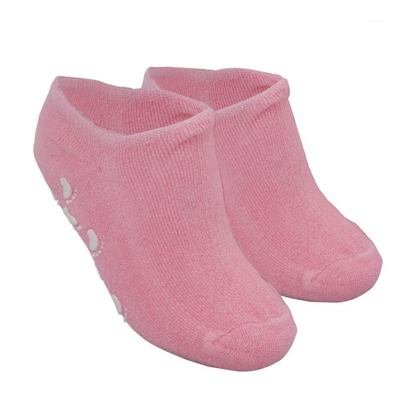 2 cor-de-rosa hidratante rachado gel seco spa pés pés peúgas de cuidado [misc.] 1