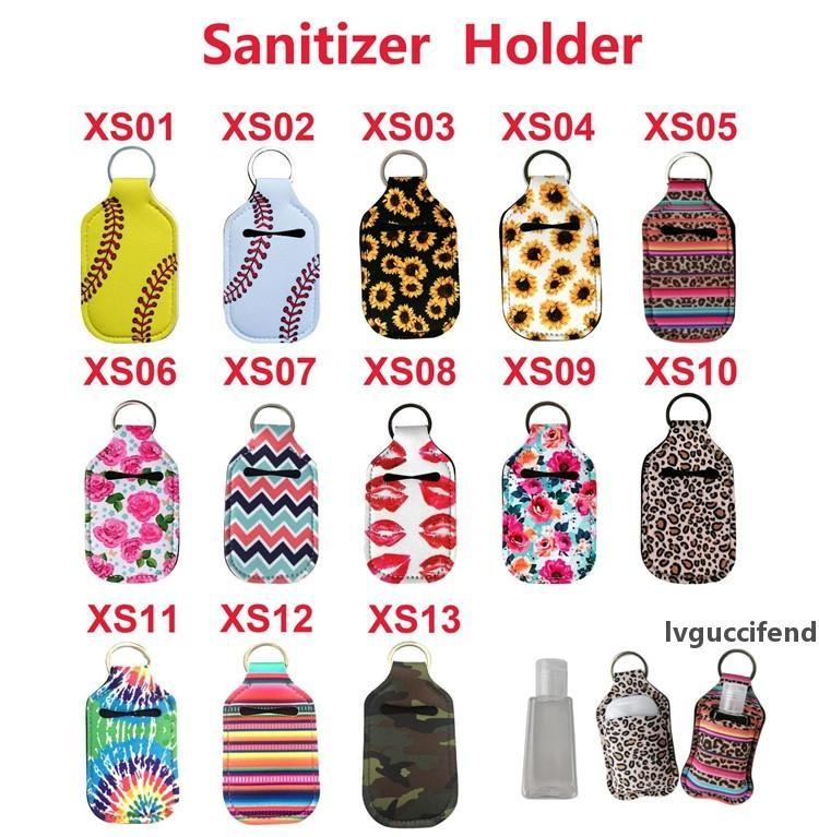 Tauchmaterial Schlüsselanhänger 30 ml Hand Waschflasche Set Parfüm Flaschenhülse Tragbare Lippenstift Set Party Kleines Geschenk T9i00341