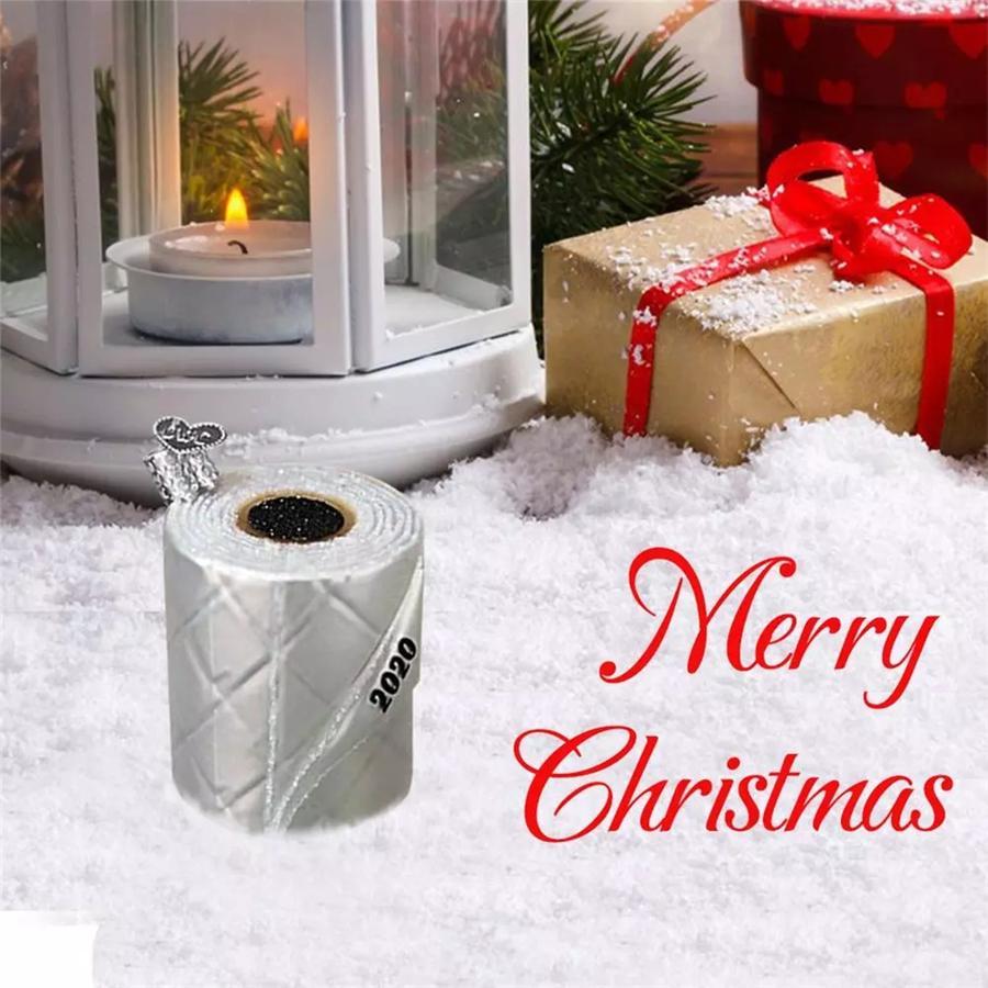 Gratuit DHL NOUVEAU Noël papier toilette Décorations d'arbre de Noël en trois dimensions Livre blanc rouleau Pendentif bricolage Trousseau Pendentif Décoration