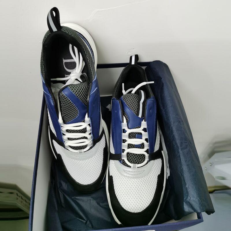 Uomini B22 Homme Sneaker Sneaker Riflettente Air Sneakers Donna Piattaforma Shoes Shoes Canvas Culfskin Print Trainer Scarpe casual in pizzo