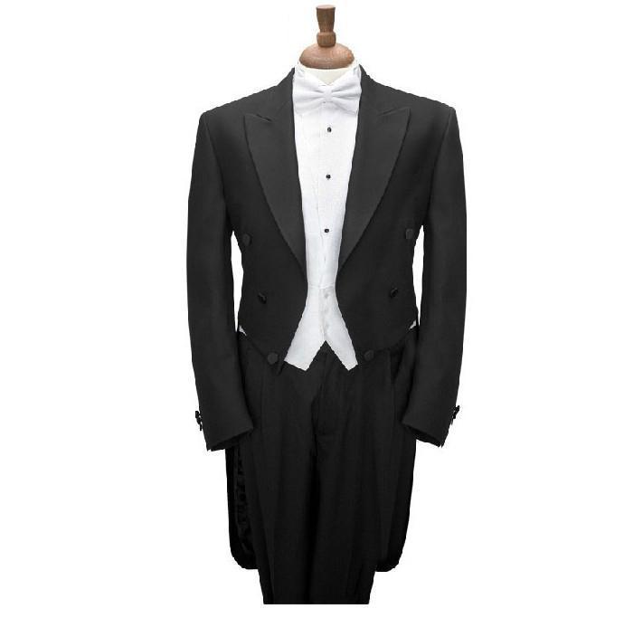 Trajes para hombre Blazers Estilo de la mañana Groom Txedos Charcoal Groomsmen Hombres Blazer (chaqueta + pantalones + corbata + chaleco)