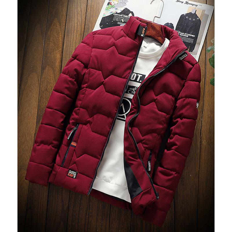 Warm Cotton-padded Clothes Slim Baseball Coats Size Down Warm Jacket Autumn Winter New Jacket Fashion Trend Casual Thickened Y 201028