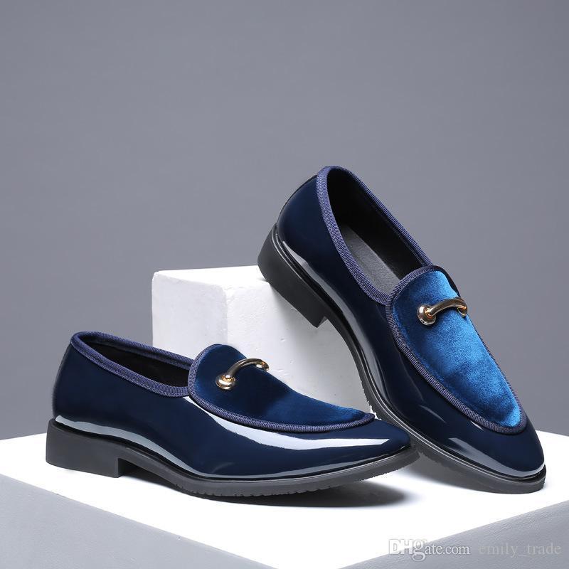 Zapatos de boda Moda novio Venta-Nuevo vestido de los hombres calientes de los zapatos de cuero del estilo de los hombres de Oxford zapatos grandes Tamaño 48