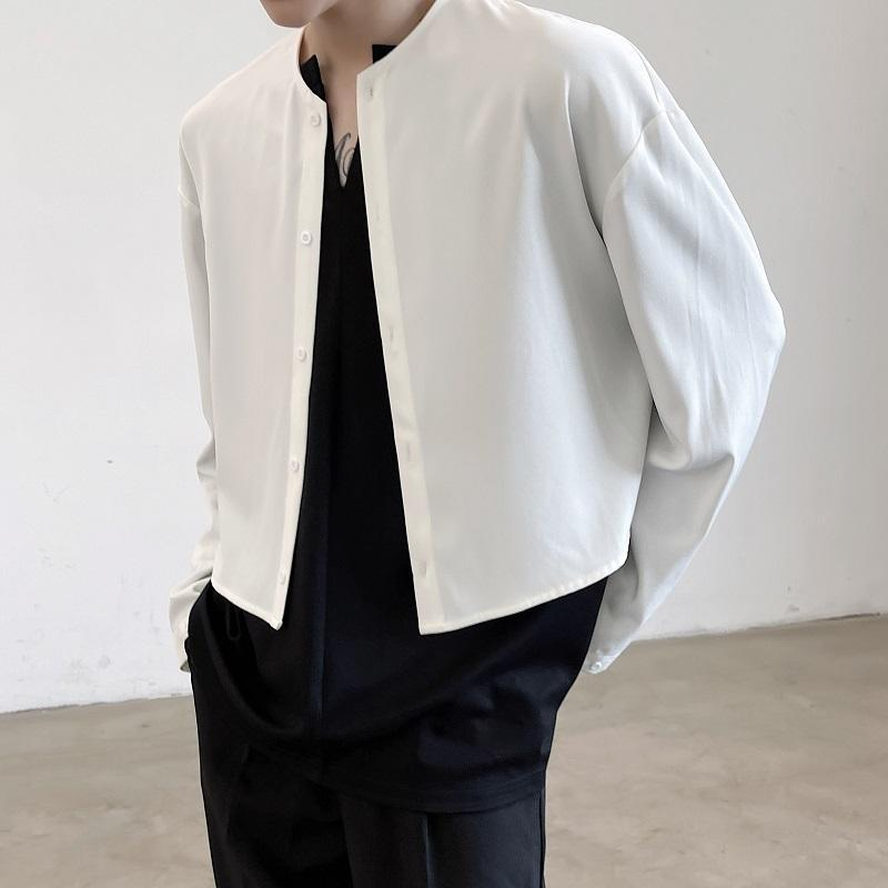 Men's Casual Shirts 2021 Spring Korean Style Personalized Short Section Men Loose Wild Simple M-XL