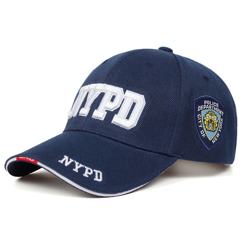 Nuovo NYPD Lettera ricamo Baseball Cap Uomini e Donne universale protezione esterna Sport Golf Cap Moda Hip Hop CapX1016