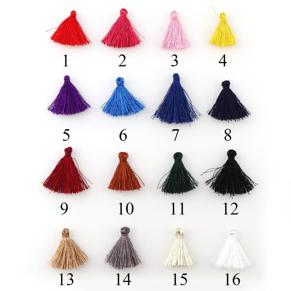30 unids colorido 25 mm mini borlas de algodón borlas pequeñas para joyería de Boho Hacer suministros Pulsera Pendientes Hallazgos COMPONENTES H JLLMEQ