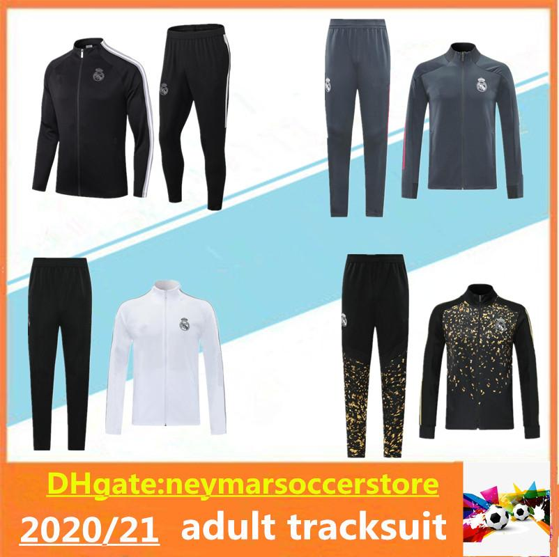 20 21 Real Madrid Soccer Tracksuit Jacket Chandal 2020 2021 Camiseta de futbol Hazard Benzema Modric Maillot de Football Entraînement