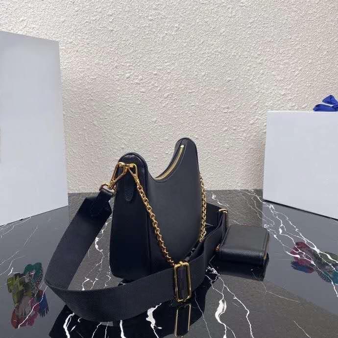 Cuir simple hobo messager bandoulière sac à main femme sac de sac en cuir chaîne de la chaîne aarm-à-tête chaîne de la chaîne Walle hobo trois-en-un ha Scbic