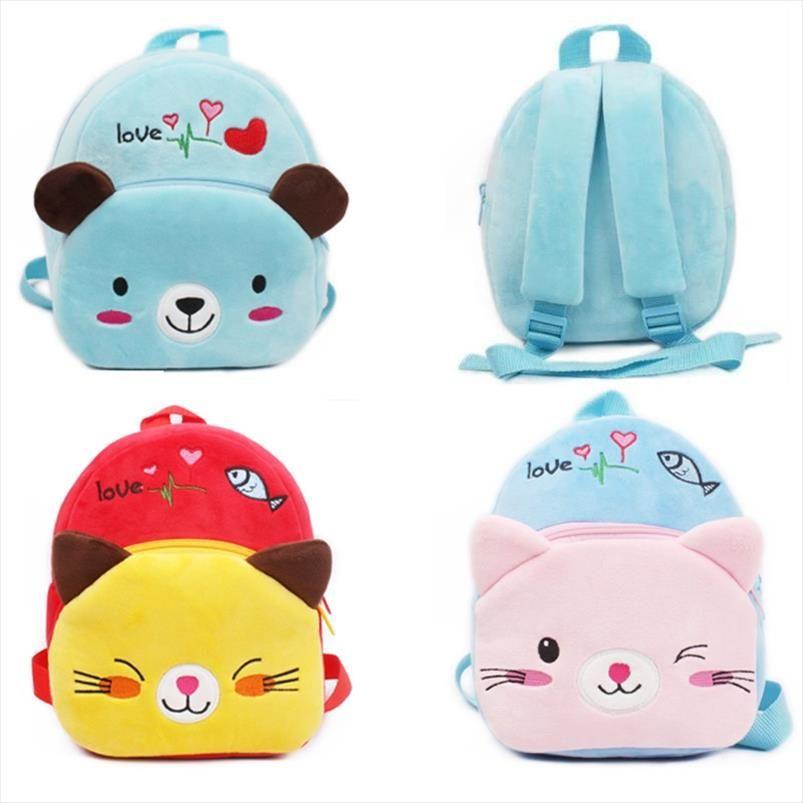 New Plush Girls Backpacks Cartoon Baby Arrival School Kindergarten Bags Soft Mini Quality Children Candy Toy Bags For Boys High Dfjqu