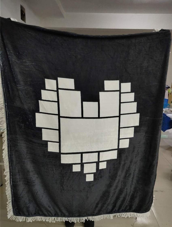 125 * 150см Сублимационные кисточка одеяло Валентина Дня святого Валентина сердце печатает тепло Термический трансфер плюшевый коврик DIY пустые коврики одеяла кровать одеяло H12505