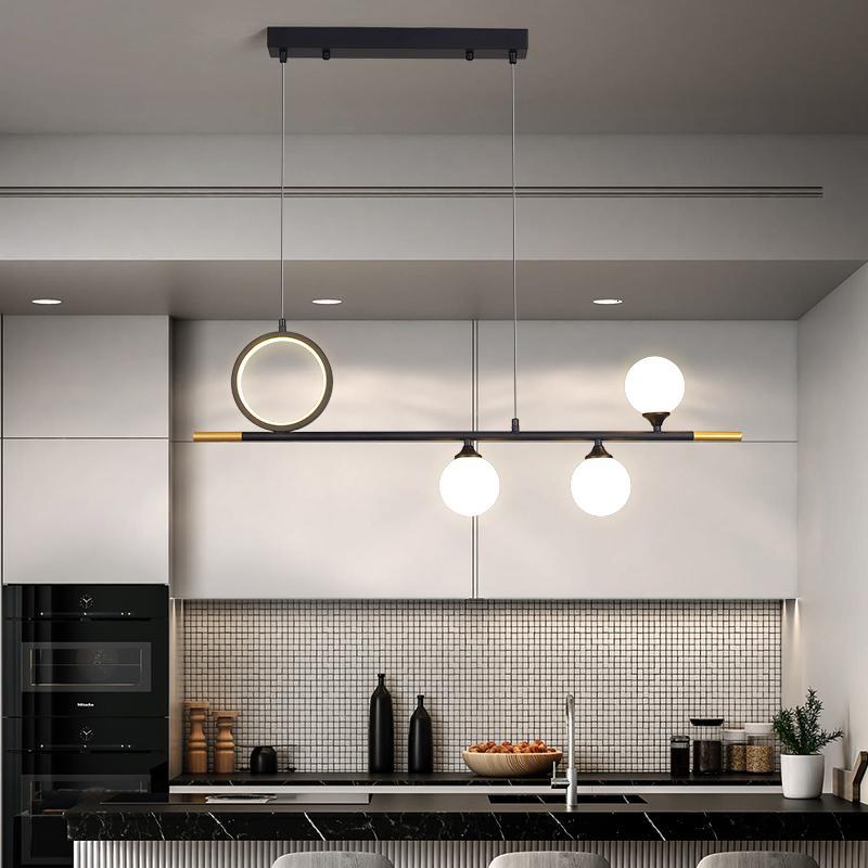 2021 новый современный светодиодный подвесной черный стеклянный шар висит свет для кухни живущая столовая бар отель подвеска дизайн крытый прибор