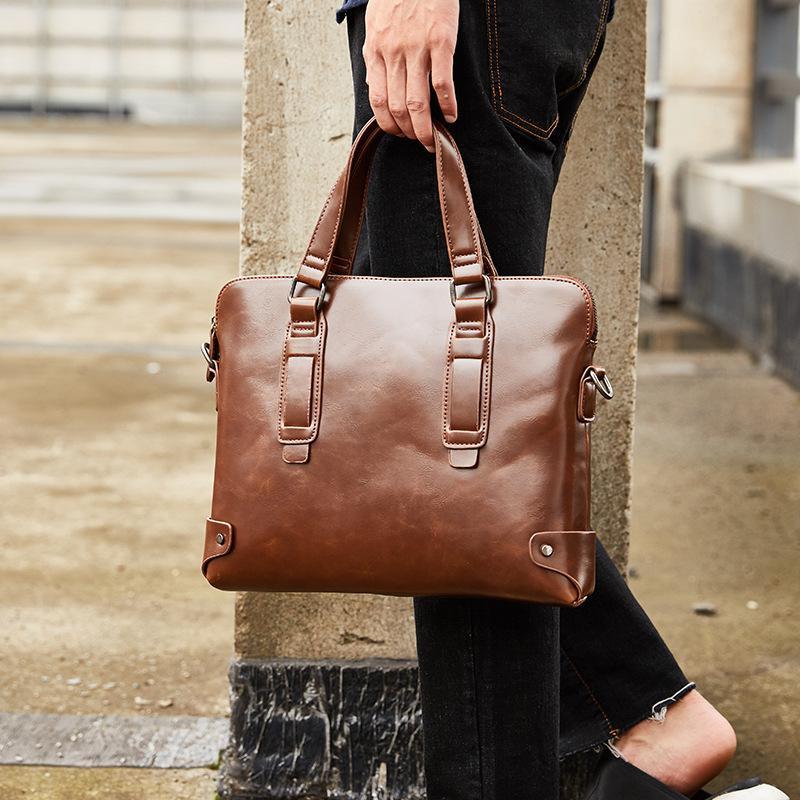 2020 Vintage Fashion Women Handbags Casual Shoulder Messenger Bags New Design A4 Briefcase Men Laptop Bag Bolso Hombre Sac Homme Q0112