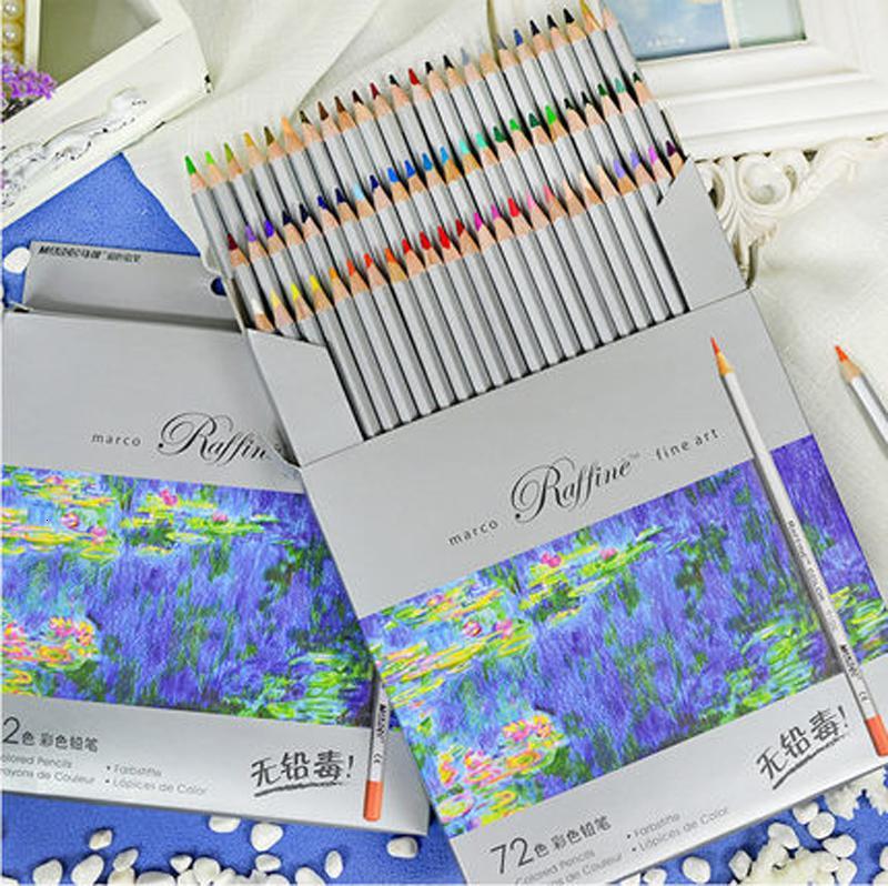 72 Colored Pencils Lapis De Cor Professional Fine Arts Drawing Non-toxic Lead-free Sketch Drawing Pencil Color Drawing Painting Colored Pen