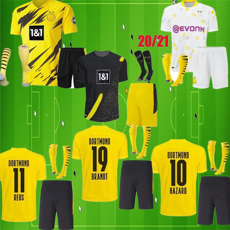 HAALAND 9 DANGER 10 Borussia 20 21 maillot de football dortmund EMRE CAN 23 2020 2021 Maillot de foot 110e SANCHO REUS HUMMELS kit pour enfants