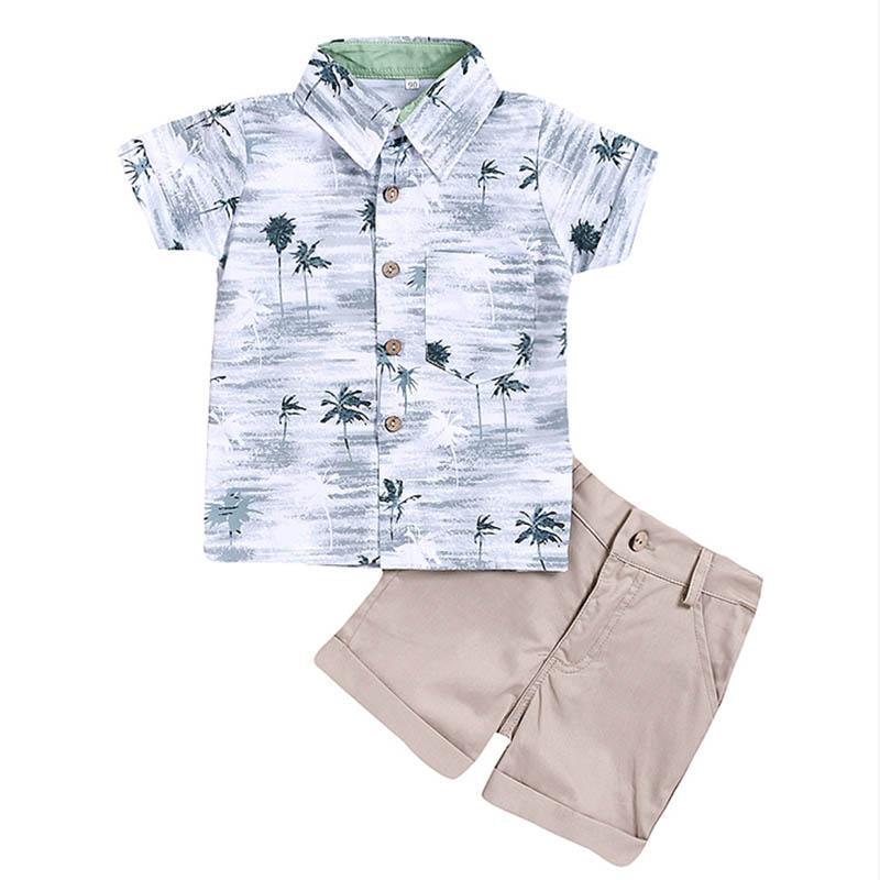 Conjuntos de ropa Kids Boy Ropa para niños Niños Bebés Bebés Tops de verano Camiseta Pantalones cortos Pantalones cortos 2pcs Trajes Set 1-6 años