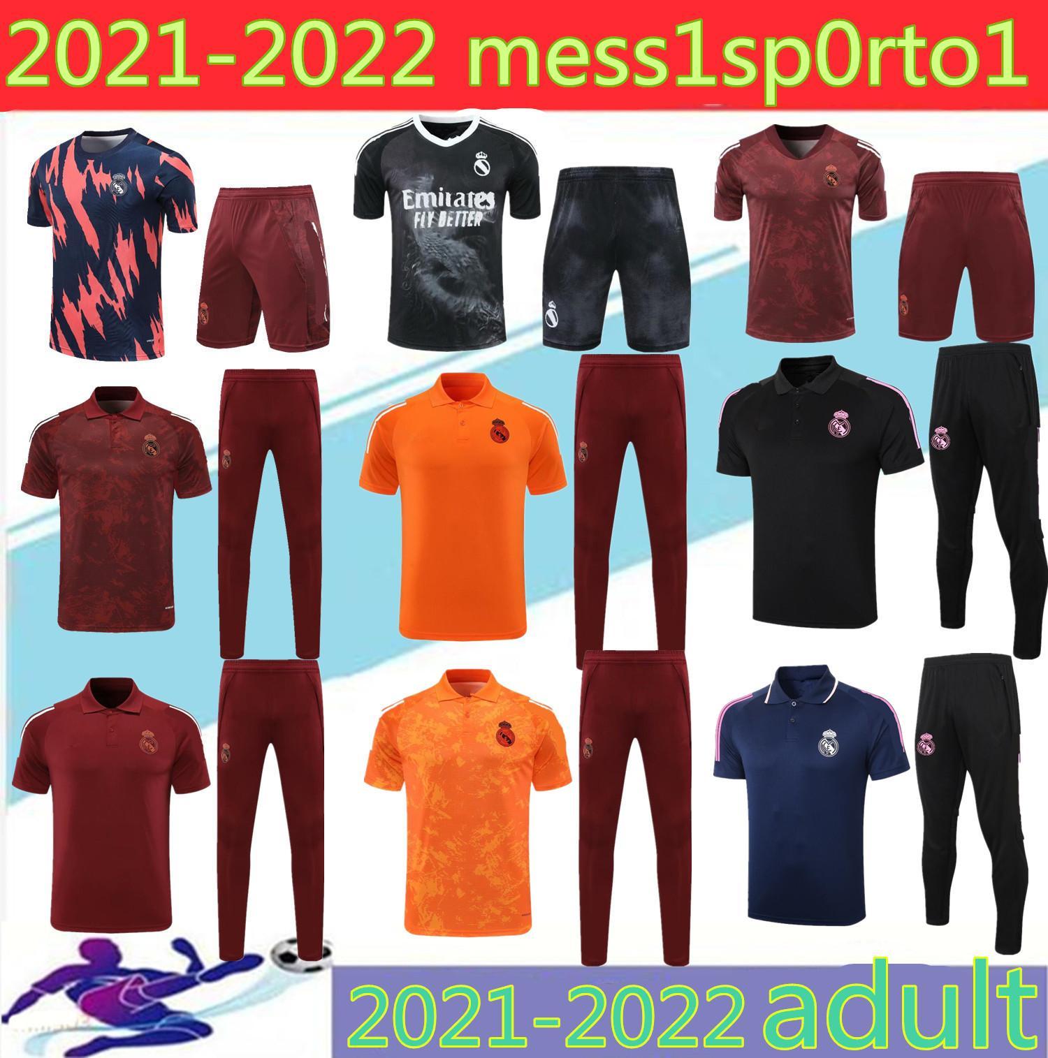 폴로 셔츠 2020 레알 마드리드 축구 유니폼 폴로 셔츠 Tracksuit 바지 20 21Sergio Ramos 벤즈마 Modric Isco 베일 축구 폴로 셔츠