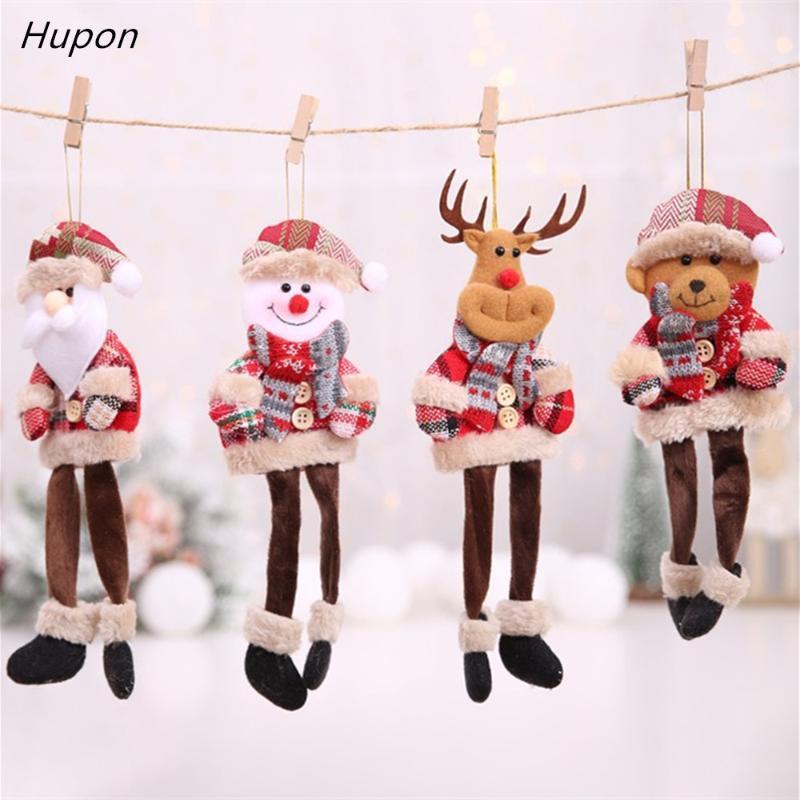 Рождественские украшения Длинноногие эльф Санта-Клаус кулонки украшения дерево для дома 2021 рождественские висит