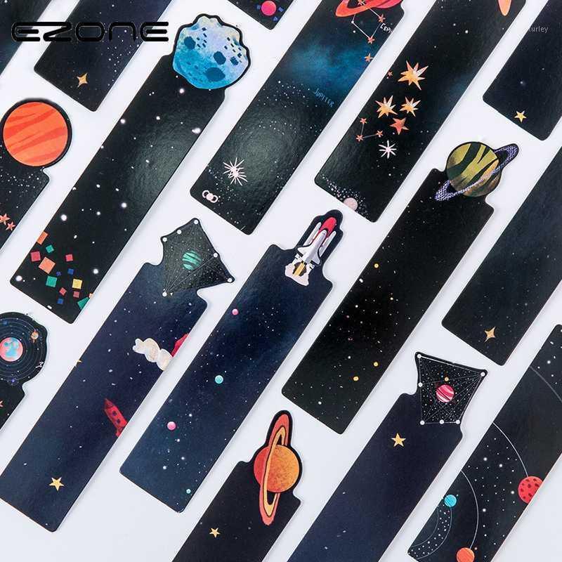 ezone 30 قطعة / المجموعة الكوكب المرجعية بطاقة بطاقة الإبداعية غالاكسي ورقة الإشارات المرجعية كتاب حامل مدرسة اللوازم المكتبية المواد Escolar1