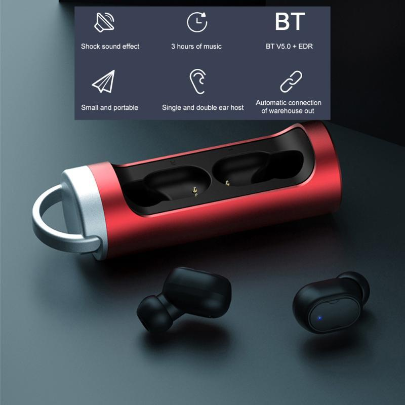 TW-09 Bluetooth 5.0 Headset Drahtlose Kopfhörer Mini TWS Earbuds IPX7 wasserdichte Sport-In-Ear-Kopfhörer mit Mic-Kasten Lade