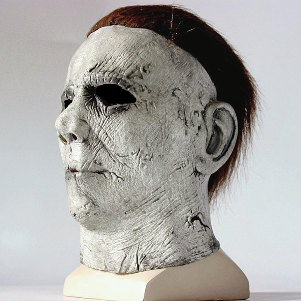 Townshine Halloween Michael Myers Mask, Halloween Hot Movie Latex Horror Scary Masks for Adult Cosplay Costume Grey