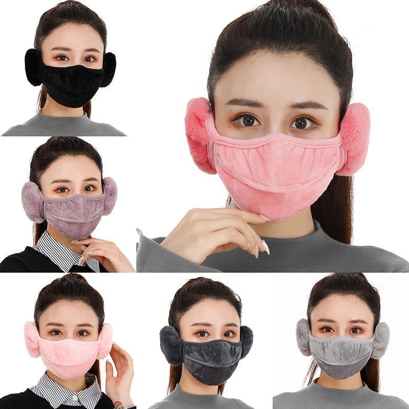 Frauen Gesichtsmaske Earmuffs Unisex Erwachsene Winter-warmer Coldproof Breathable verdickte Außenreit Ski windundurchlässigen Waschbar Mundschutz