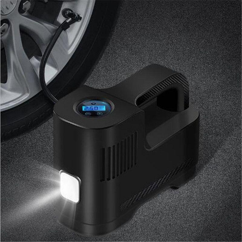 Car Tire Inflator Auto Air Compressor Tire Pump DC 12V Digital Screen Auto Air Pump with LED Light for Car Tires