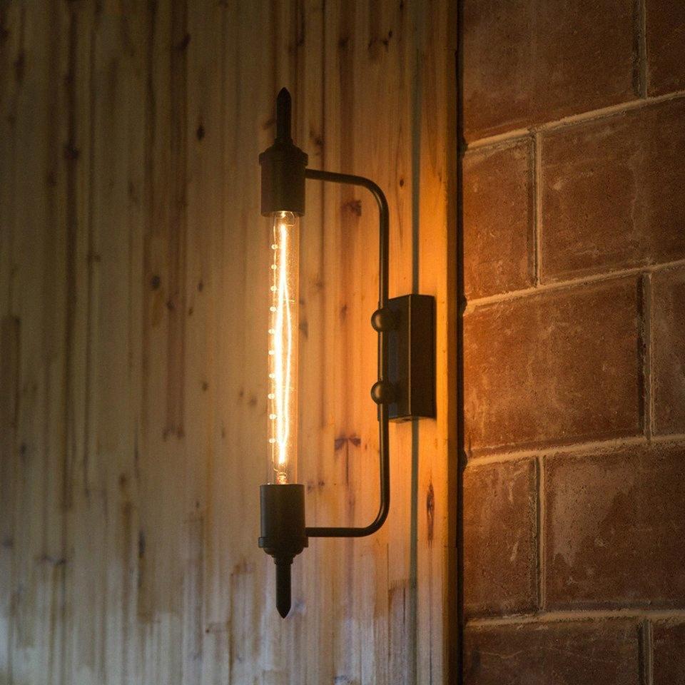 Luz retro Industrial país innovador restaurantes Bbalcony Corredor Etapa arte de la pared de la lámpara Negro y4Z4 #