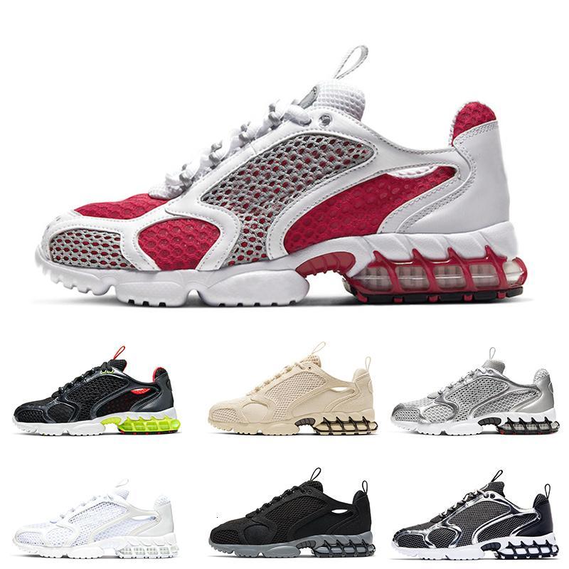 Varsity Red Spiridon Käfig 2 Männer Schuhe Triple White Pure Platinum Metallic Silver Black Grey Damen Mode Sneakers Trainer Schuhe