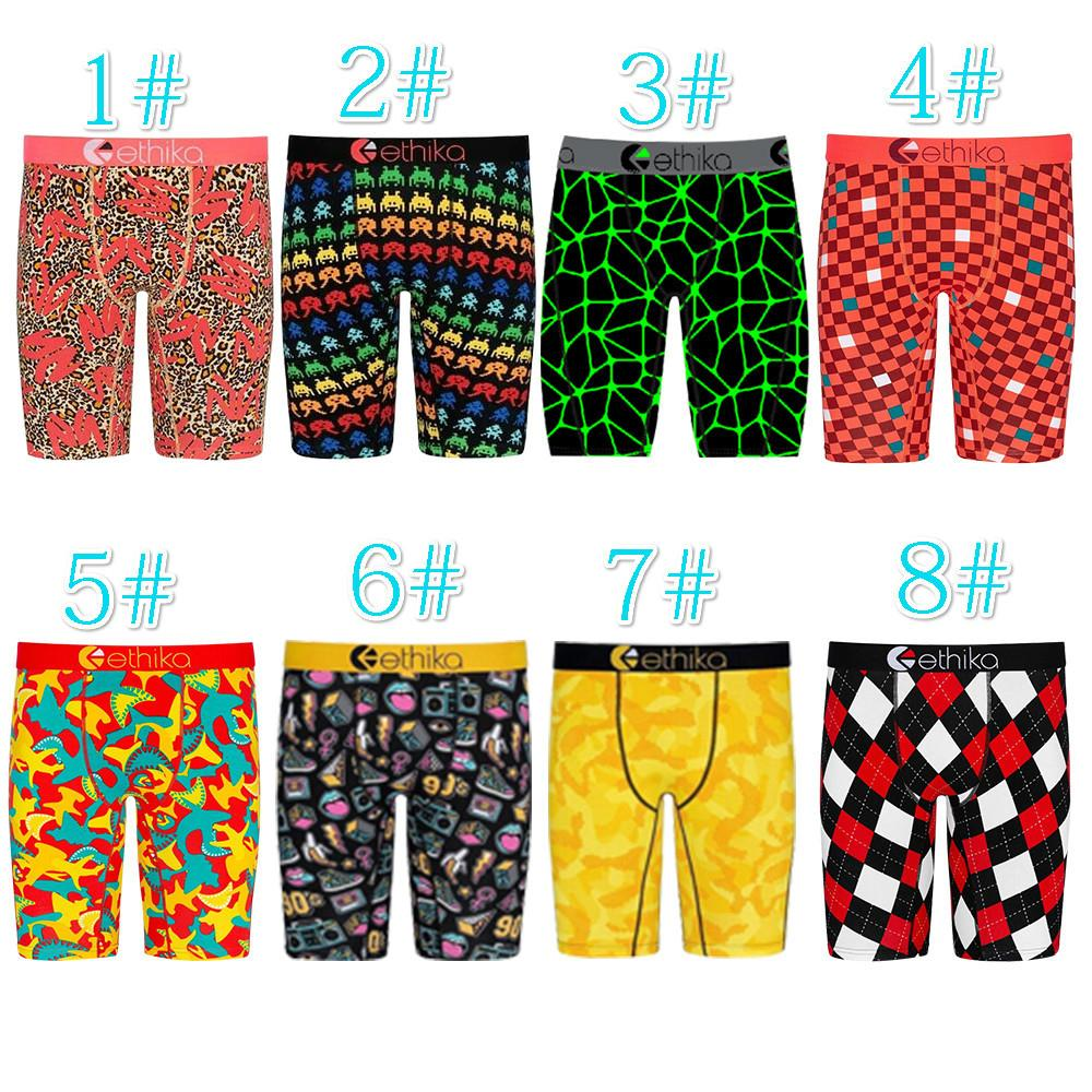 New Designer Men Ethika Shorts Sexy Printed Pants Summer Club Mini Leggings Fashion Men Beach Pants Casual Clothing Plus Size 8 Color