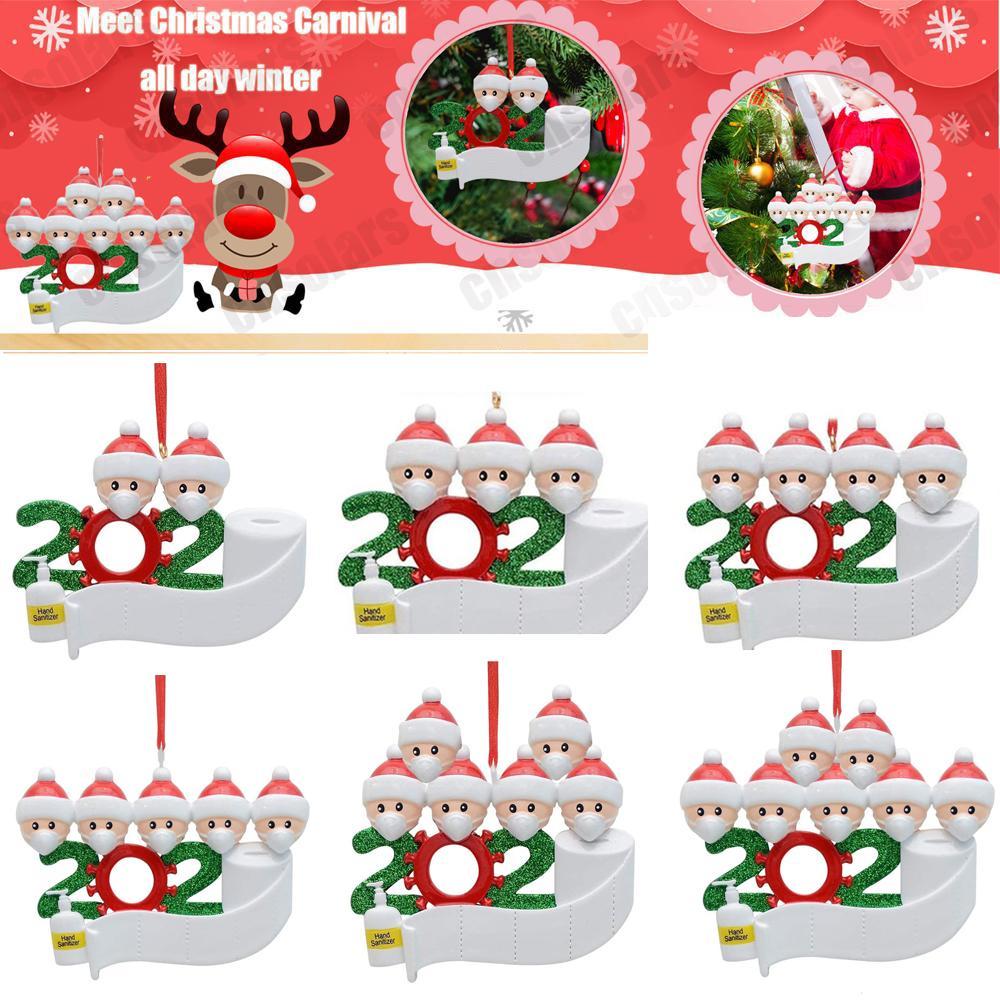 أزياء شخصية من عائلة (3) حلية 2020 عطلة عيد الميلاد ديكورات فريدة من نوعها شجرة عيد الميلاد pvc حلية خاصة تذكار خاصة