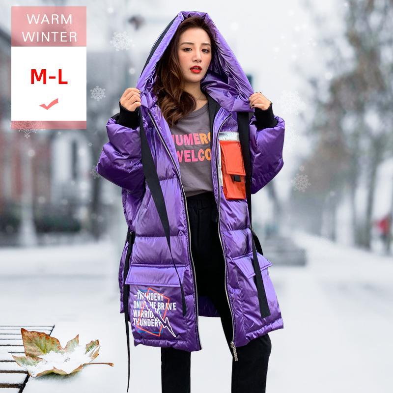 Nova Moda Inverno branco longo Duck Down Jacket com revestimento à prova de vento impermeável Tamanho Big boa realiable 201020 amantes capa Feminino grossas