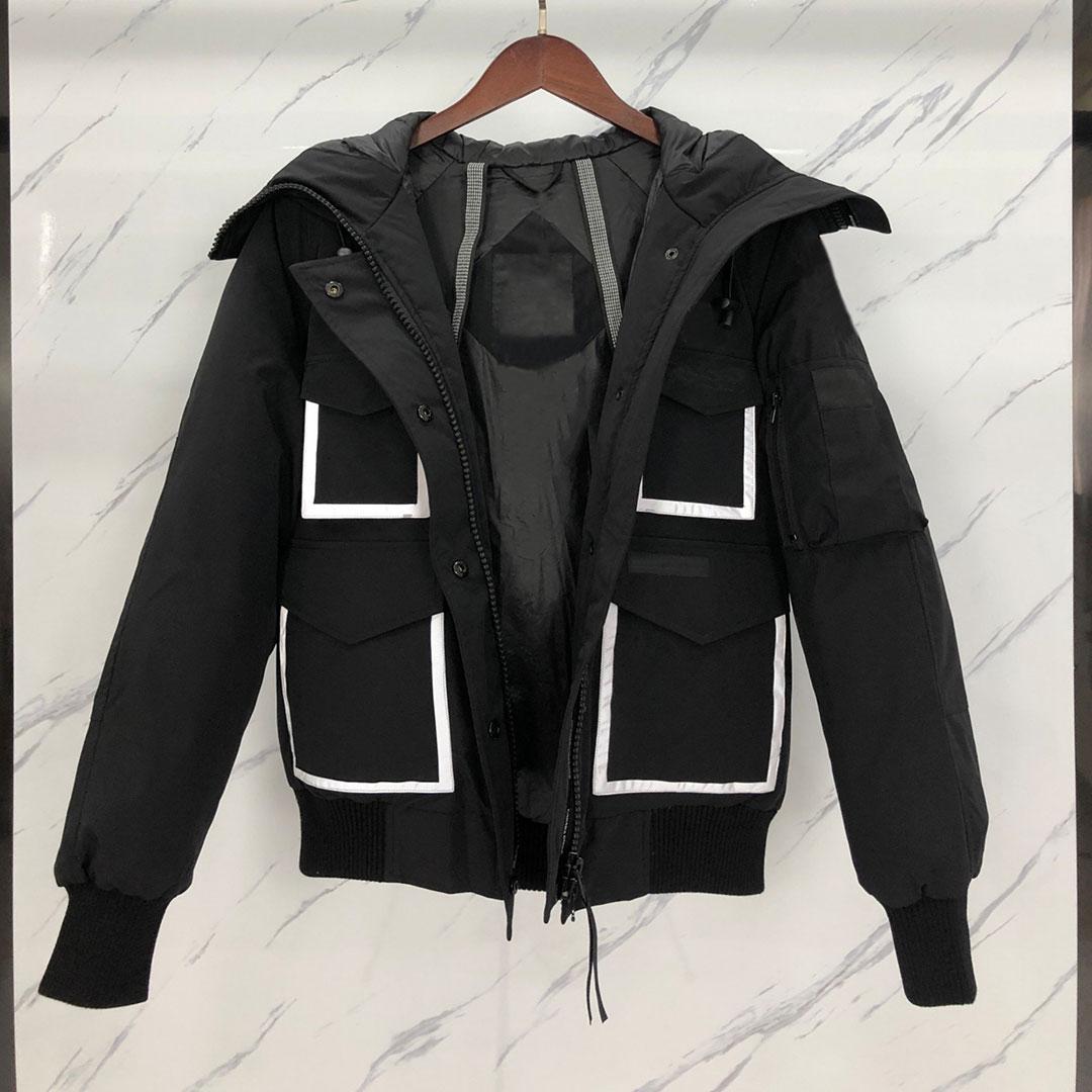 Зимняя куртка Мужчины Классический Повседневный вниз пальто Стилист Открытый теплая куртка высокого качества ветровки унисекс пальто Outwear 2-Имеющийся цвет