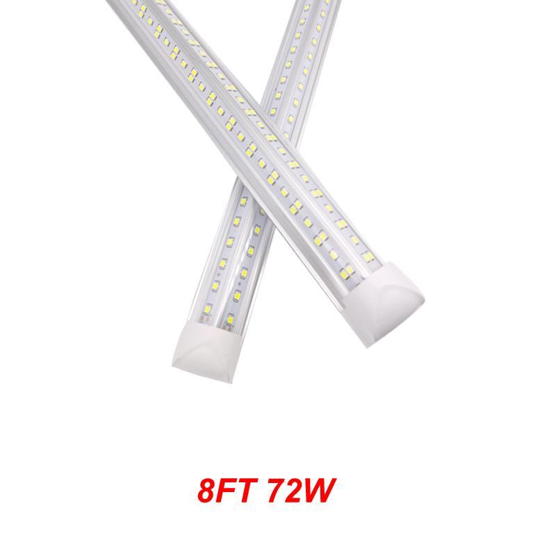 Neue 72 Watt 8ft LED-Shop-Lichter T8 LED-Röhrchen leichte kalte weiße integrierte LED-Lichtröhrenlampe super hell AC 85-265V + Lager in den USA