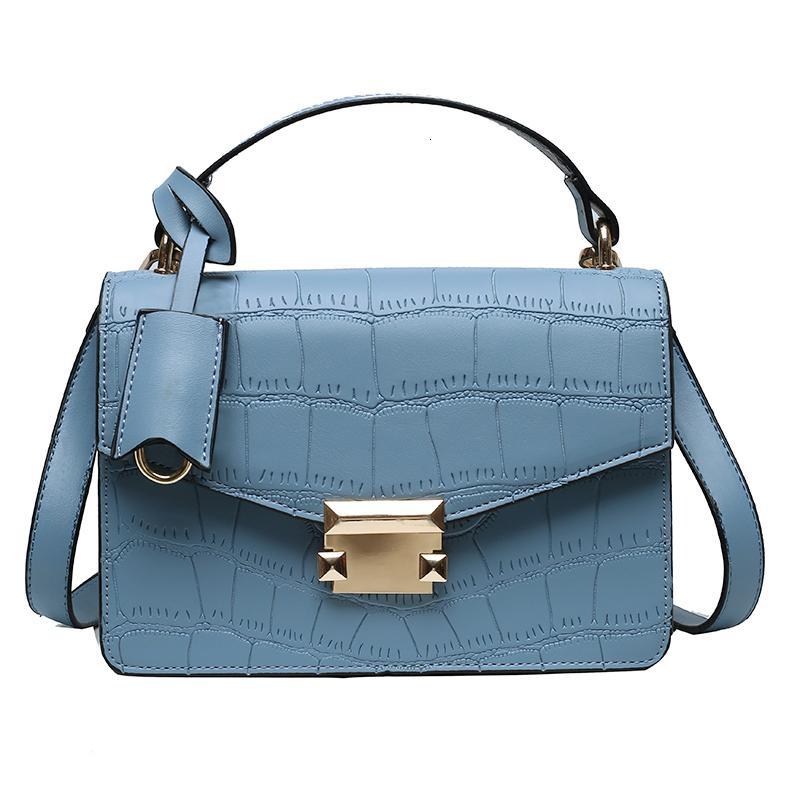 Роскошь 2020 сумочка дизайн дамы кожаный узор цветной сумка брендовой рукой Crossbody камень чистого плеча женский язычок