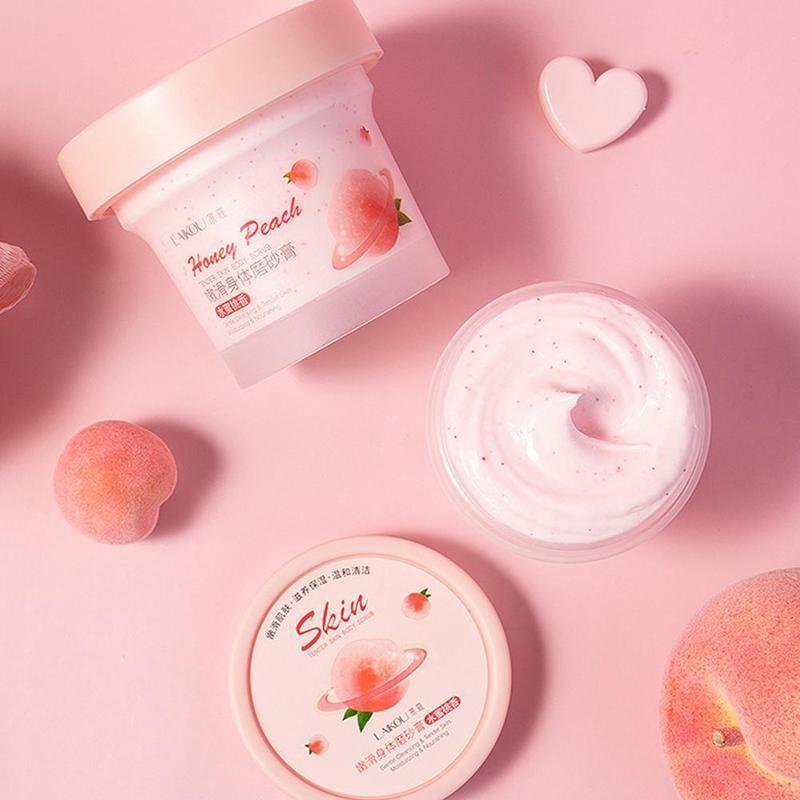 Lycome Peach Body Scrub Скраб для глубокого очищения Осветляющий Уход за кожей Отбеливание Отшелушивающий Увлажняющий Уход за телом