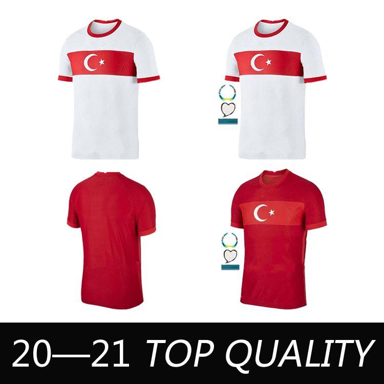 2020 Turquía Soccer Jerseys National Team Mens Celik Demiral Ozan Kabak Calhanoglu Yazici Home Red Away Blanco Camisa de Fútbol