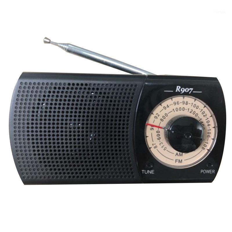 Rádio Portable AM / FM Radio, bolso com fone de ouvido, recepção, bateria operada por 2 bateria (não incluída) 1
