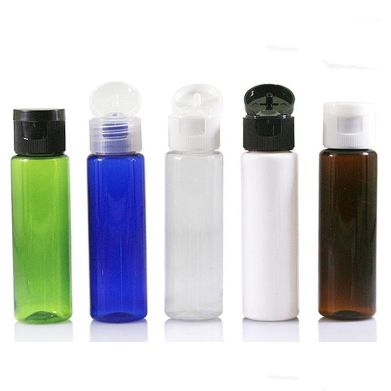 زجاجات التعبئة زجاجة بلاستيكية 30 ملليلتر فليب غطاء خلفي التجميل التعبئة والتغليف شفاف كاب الحاويات 50pcs1