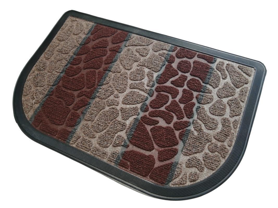 Door Mat Floor Mat Stone Shaped Carpet Thick Rubber Waterproof Non Slip Easy Clean Indoor Outdoor Entrance Home Hotel Loop Pile