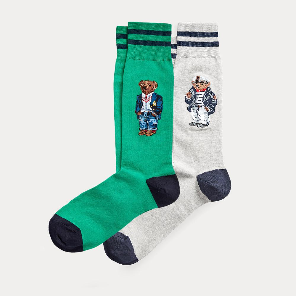 폴로 곰 양말 2 팩 패션 만화 귀여운 양말 하라주쿠 여성 스트레칭면 양말 웹 발목 양말 hipster skatebord ankle funny sock