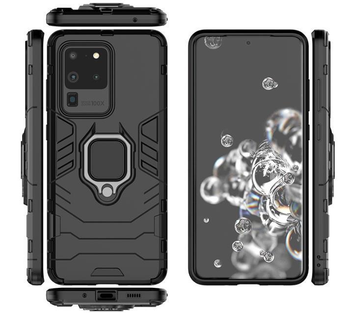 Ständer Ringhalter Hybrid Rugged stoßfest Telefon-Kasten Schutzhülle für Samsung Galaxy S20 Plus Ultra Anmerkung 20